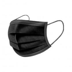 Grossiste Boite de 50 masques noirs type IIR