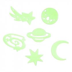 Grossiste et fournisseur. Sticker étoiles et planètes phosphorescentes x 24