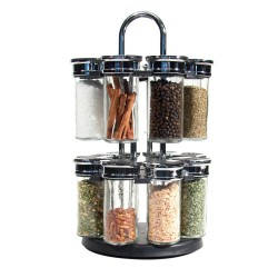 Grossiste et fournisseur. Carrousel à épices rotatif - 2 étages - 16 pots