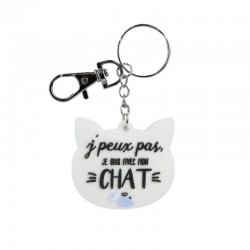 Cat head shape keychain