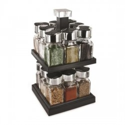 16-bottle spice tower carousel