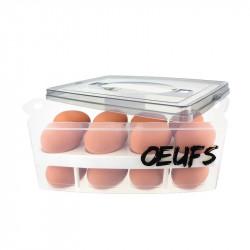 Boîte à œufs à 2 étages grise