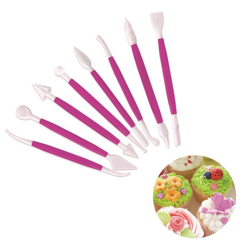 Grossiste et fournisseur. Ustensiles pour la décoration de cupcakes x 8 rose