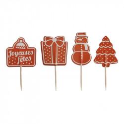 Grossiste et fournisseur. Boîte à bûche de Noël de 30 cm avec décoration