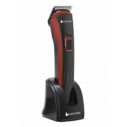 Grossiste et fournisseur. Tondeuse électrique rechargeable noire et rouge avec accessoires