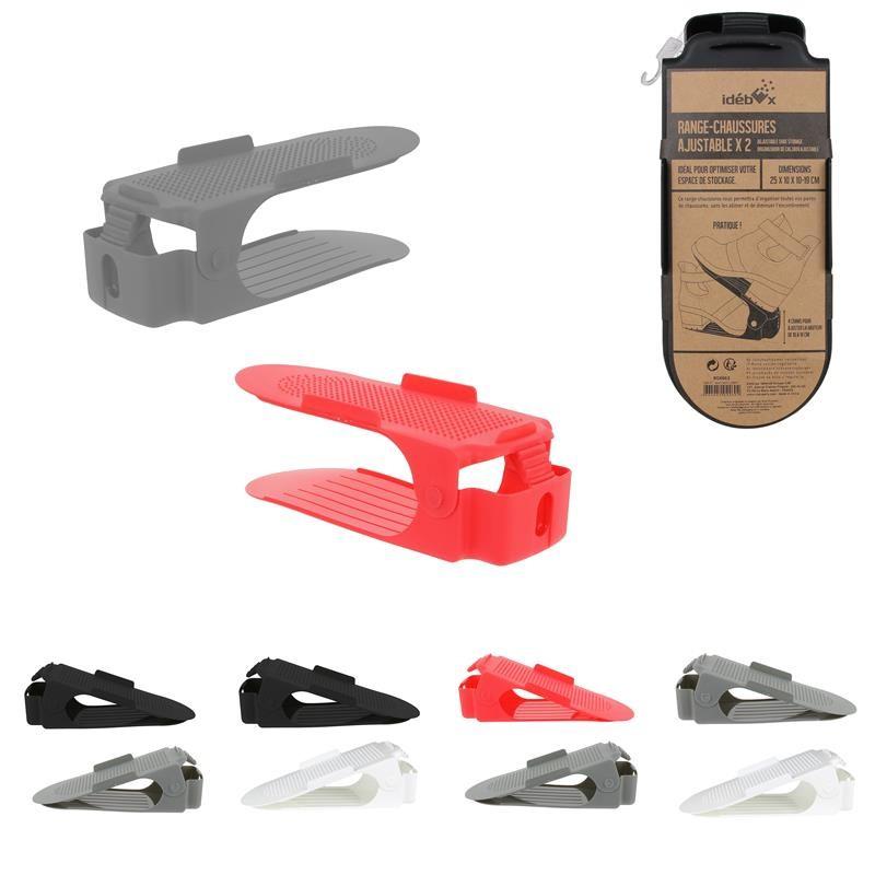 Grossiste et fournisseur.  Range-chaussures ajustable en plastique x 2