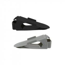 Grossiste et fournisseur.  Range-chaussures ajustable en plastique x 2 noir et gris