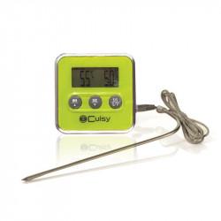 Grossiste et fournisseur de thermomètre à sonde et minuteur vert