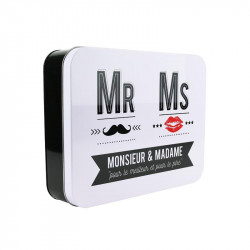 'Mr and Mrs' metal storage box