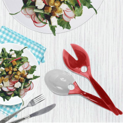 Grossiste et fournisseur. Couverts à salade bicolores roses