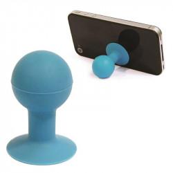 Grossiste et fournisseur. Support pour smartphone boule à ventouse bleu.