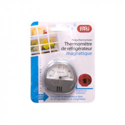 Grossiste et fournisseur. Thermomètre de réfrigérateur ou congélateur aimanté gris