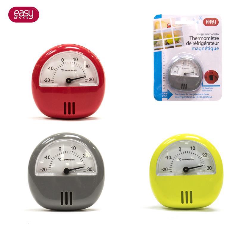 Grossiste et fournisseur. Thermomètre de réfrigérateur ou congélateur aimanté