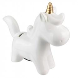 Ceramic unicorn piggy coin