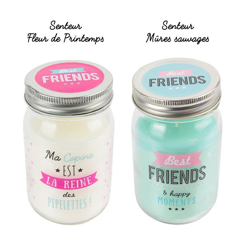 Grossiste et fournisseur. Bougie Mason Jar Best friends