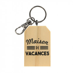 Family wooden keychain