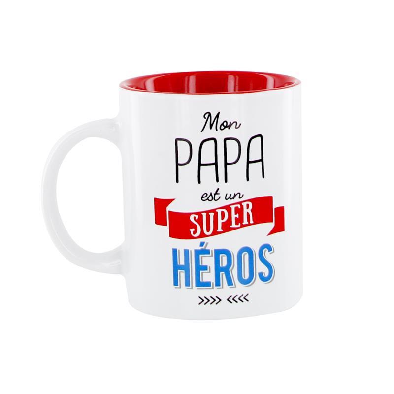 Grossiste et fournisseur. Mug Papa est un super-héros.