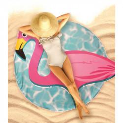 Grossiste et fournisseur. Drap de plage flamand rose.