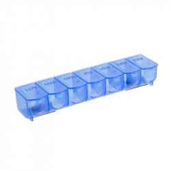 Grossiste et fournisseur. Pilulier magnétique bleu.