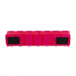 Grossiste et fournisseur. Pilulier magnétique rouge.