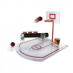 Basketball shot glasses game
