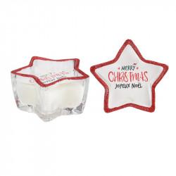 Grossiste. Bougie de Noël en forme d'étoile blanche