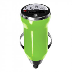 Grossiste. Chargeur USB allume-cigare pour voiture vert
