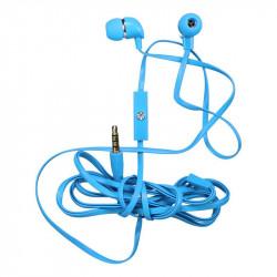 Grossiste. Écouteurs bleus câble plat kit main libre