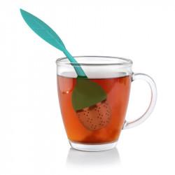 Grossiste. Boule à thé inoxydable verte avec coupelle
