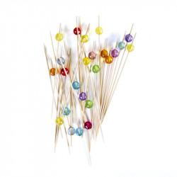 Grossiste. Pic apéritif avec décoration en perle x 24
