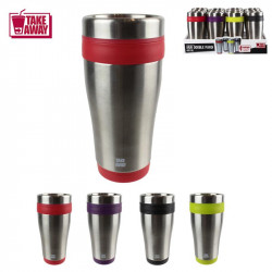 Grossiste. Mug de transport isotherme en inox - 400 ml