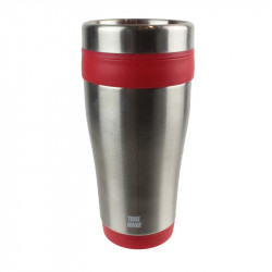 Grossiste. Mug de transport isotherme  rouge en inox - 400 ml