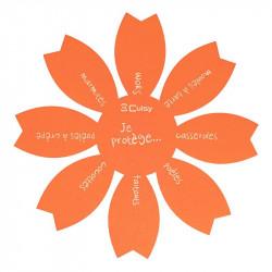 Grossiste. Protège-poêle anti-rayures orange x 2
