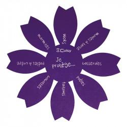 Grossiste. Protège-poêle anti-rayures violet x 2