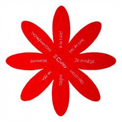 Grossiste. Protège-poêle anti-rayures rouge x 2