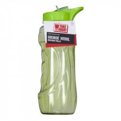 Grossiste. Gourde de sport de 900 ml avec paille intégrée verte