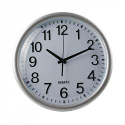 Grossiste. Horloge silencieuse 35 cm noire et grise