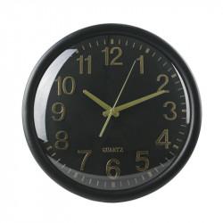 Grossiste. Horloge silencieuse 35 cm noire et cuivrée