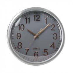 Grossiste. Horloge silencieuse 35 cm grise et cuivrée
