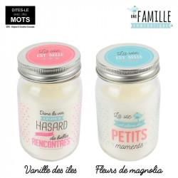 "Grossiste. Bougie Jar ""La vie est belle"""