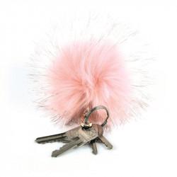 Grossiste et fournisseur. Porte-clés pompon rose