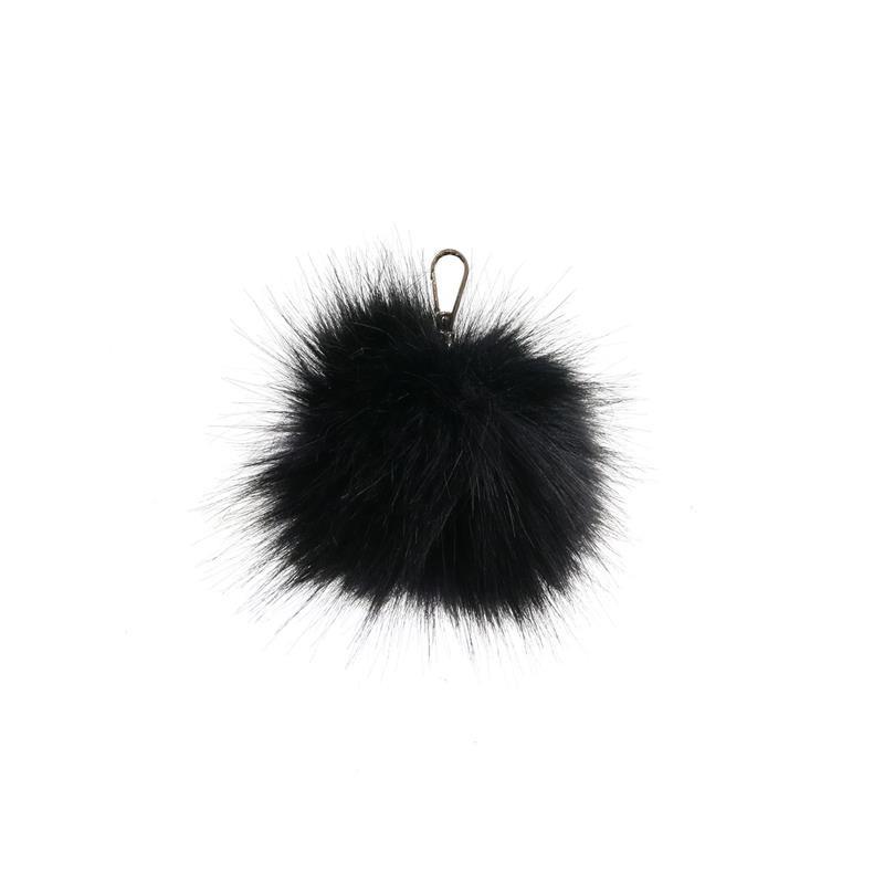 Grossiste et fournisseur. Porte-clés pompon noir
