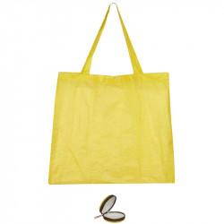 Grossiste et fournisseur. Sac de shopping pliable jaune