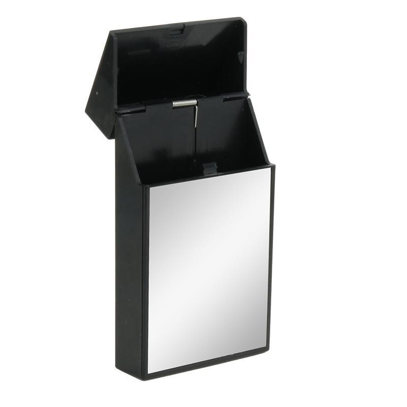 Grossiste. Etui pour paquet de cigarettes slim noir avec effet miroir