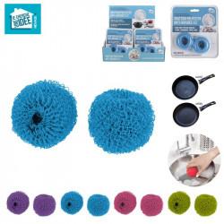 Grossiste et fournisseur. Grattoir de vaisselle anti-rayures bleu  x 2