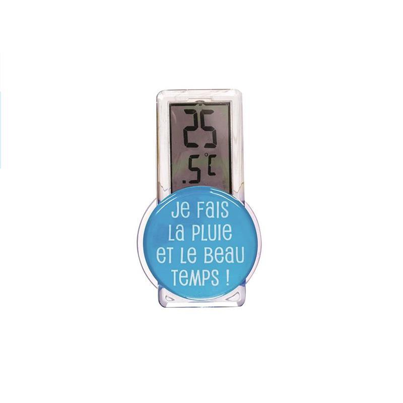 Grossiste et fournisseur. Thermomètre extérieur bleu