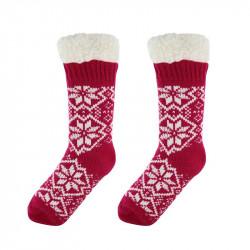 Grossiste et fournisseur. Chaussettes de femme pour l'hiver rouges