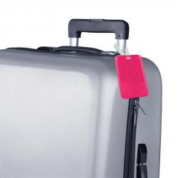Grossiste. Porte étiquette à bagages rose x 2