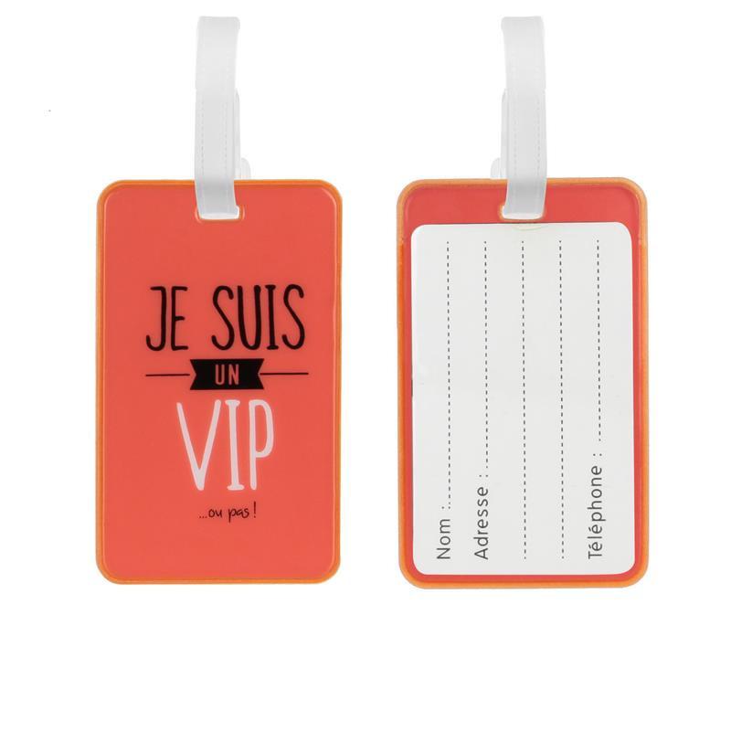 Grossiste. Porte étiquette à bagages orange x 2