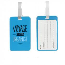 Grossiste. Porte étiquette à bagages bleue x 2